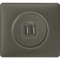 Розетка с 2-мя USB графит Celiane Legrand
