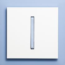 Выключатель 1-кл. проходной сине-ледяной  Neo ABB