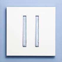 Выключатель 2-кл. проходной сине-ледяной  Neo ABB