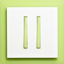 Выключатель 2-кл. проходной зелено-ледяной  Neo ABB