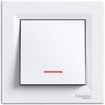 Выключатель 1-кл. с подсветкой белый Asfora Schneider