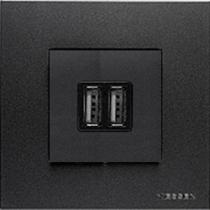 Розетка с 2-мя USB антрацит Zenit ABB