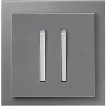 Выключатель 2-кл. проходной сталь-титан  NeoTech ABB