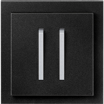 Выключатель 2-кл. проходной оникс-титан  NeoTech ABB