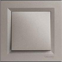 Выключатель 1-кл. проходной бронза Asfora Schneider