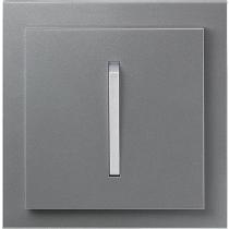 Выключатель 1-кл. проходной сталь-титан  NeoTech ABB
