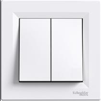 Выключатель 2-кл. проходной белый Asfora Schneider