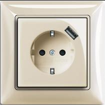 Розетка с з/к с USB 92Basic55