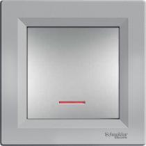 Выключатель 1-кл. с подсветкой серебристый Asfora Schneider