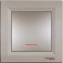 Выключатель 1-кл. с подсветкой бронза Asfora Schneider