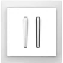 Выключатель 2-кл. проходной бело-ледяной  Neo ABB