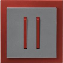 Выключатель 2-кл. проходной сталь-терракота  NeoTech ABB