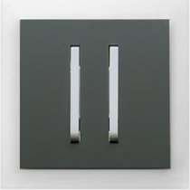 Выключатель 2-кл. проходной графит  Neo ABB