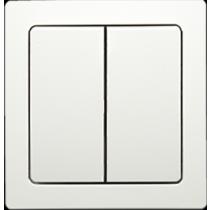 Выключатель 2-кл. проходной белый Swing ABB