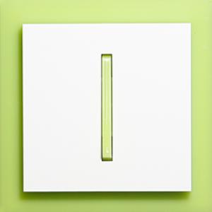 Выключатель 1-кл. проходной зелено-ледяной  Neo ABB