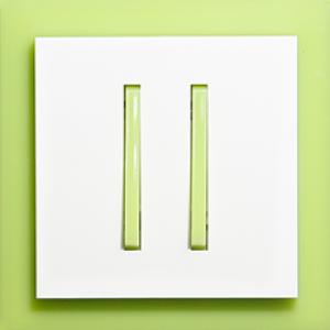 Выключатель 2-кл. зелено-ледяной  Neo ABB