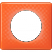 Оранжевый муар пластик