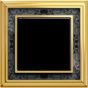 Латунь / черная роспись металл
