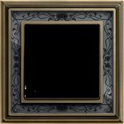 Латунь античная/ черная роспис металл
